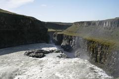 gullfoss waterfalls - stock photo