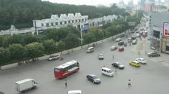 Urban town busy road traffic,Asia China Chinese people. Stock Footage