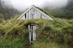 turf house - stock photo