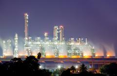 Oil refinery plant Stock Photos