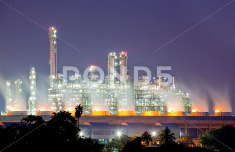 Stock photo of oil refinery plant