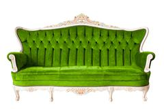 Stock Photo of vintage luxury green sofa