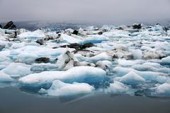 Stock Photo of iceberg lake