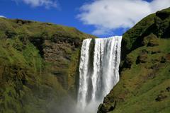 Skogafoss waterfall Stock Photos