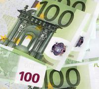 Stock Photo of europe euros banknote of hundreds