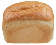 Wheaten bread on white background Stock Photos