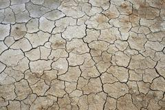 cracked clay earth - stock photo
