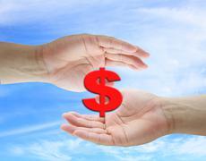 dollar saving concept - stock photo