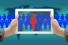 woman workforce - stock photo