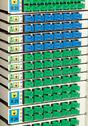 Stock Photo of sc connector fiber optic rack