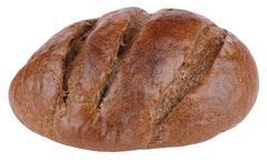 dark bread on isolated - stock photo