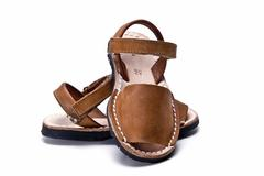 Sandals made of leather. Stock Photos