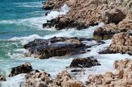 Summer waves on the coast of central dalmatia Stock Photos