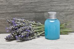 Lavender gel on a shelf Stock Photos