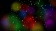 Stock Video Footage of Festive Christmas Multicolor 1080