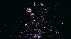 Firework streaks in the night sky  with sound 1 Stock Footage