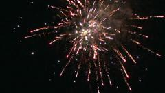 Colorful fireworks on the black sky background with sound 3 Stock Footage