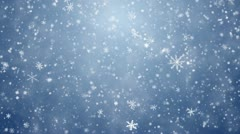Falling snowflakes, snow background - stock footage