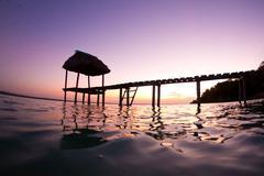 lake peten - stock photo