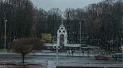 City symbol of Kharkov in walking timelapse Stock Footage