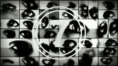 Eye counter Big Brother Stock Footage
