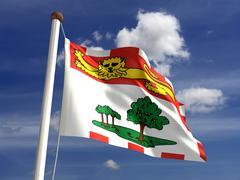 Prince edward island flag canada Stock Illustration