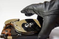 Data theft Stock Photos
