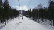Montage of Ski Resort Shots Stock Footage