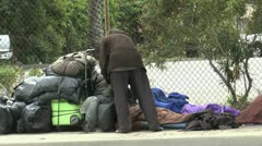 Homeless Women ED Stock Footage