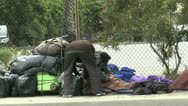 Homeless Live In Street ED Stock Footage