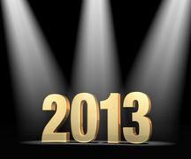 Stock Illustration of spotlight on new year 2013