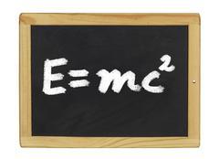 Einstein equation  written on a blackboard Stock Illustration