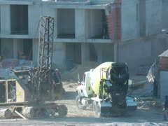 Construction Sites, Buildings, Foundations, Industry Stock Footage