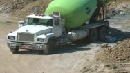 Stock Video Footage of Cement Truck, Cement Mixer for Construction Industry