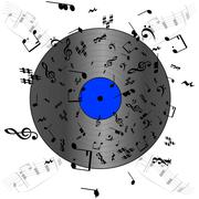 music record - stock illustration