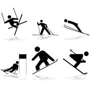 snow sports - stock illustration