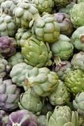 fresh artichokes - stock photo
