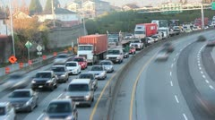 Vancouver Canada Traffic Cassiar Connector TimeLapse - stock footage