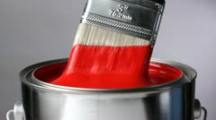 Dripping red paint Stock Footage