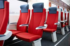 modern high speed train interior. - stock photo