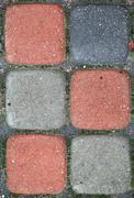 Colorful paved blocks. Stock Photos
