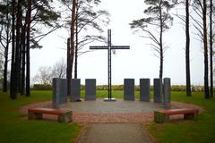 memorial cross - stock photo