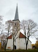 lutheran church, johvi, estonia. - stock photo