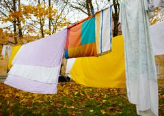 Bright colorful linen. Stock Photos