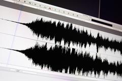 waveform. - stock photo