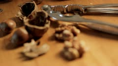Nuts rack focus Stock Footage