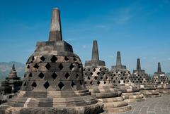 borobudur stupa - stock photo