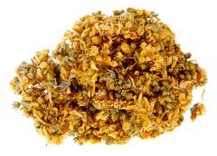 Medicinal herbs, john's wort on the white background, (hypericum elodes) Stock Photos