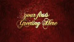 Christmas greeting intro - stock after effects