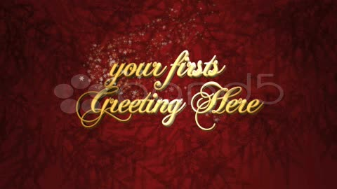 After Effects Project - Pond5 Christmas greeting intro 12734633